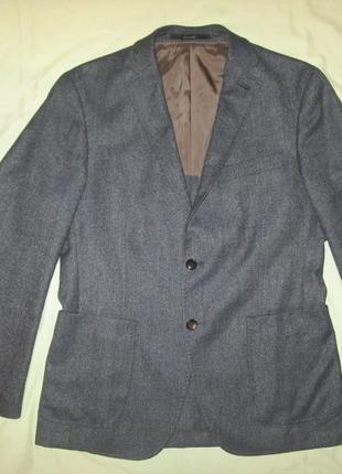 Шерстяной пиджак мужской блейзер windsor р. 48 boss joop