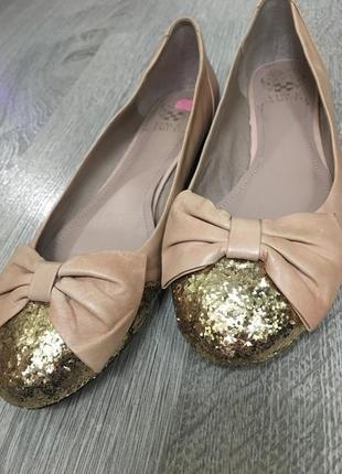 Кожаные балетки vince camuto
