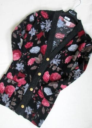 Charles voegele/красивый теплый кардиган в цветочный принт