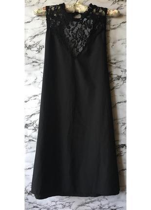 Чёрное платье комбинация