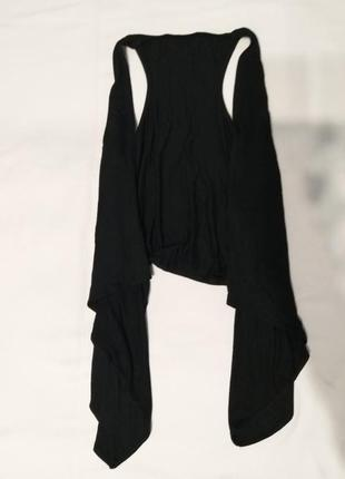 Черная мягкая жилетка