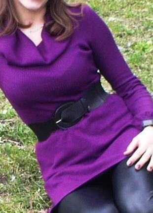 Фиолетовая теплая туника