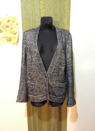 Твидовый пиджак с нитью  люрекса от английского бренда   mary portas