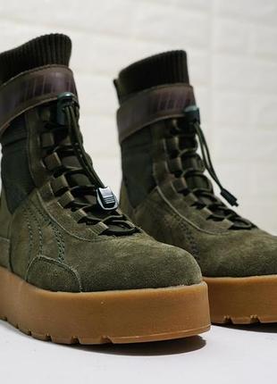 Женские зимние ботинки puma x fenty scuba boot military green 36-39р. 17bd30c1109