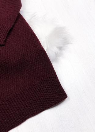 Оверсайз сукня-светр від asos \ теплое марсаловое оверсайз платье свитер {brave soul}3