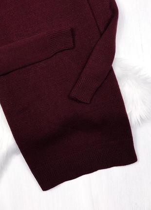 Оверсайз сукня-светр від asos \ теплое марсаловое оверсайз платье свитер {brave soul}5
