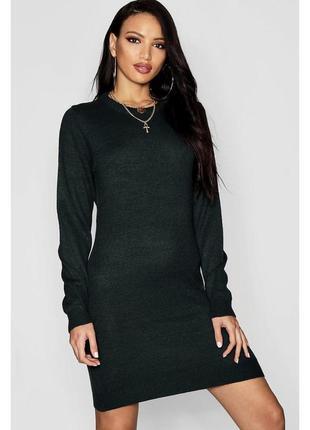 Оверсайз сукня-светр від asos \ теплое марсаловое оверсайз платье свитер {brave soul}2