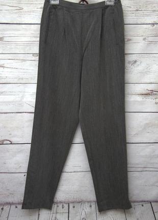 Стильный серый брючный костюм uk124 фото