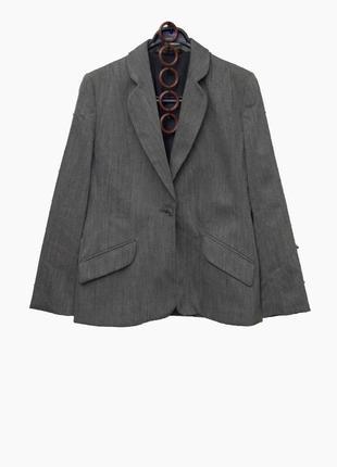 Стильный серый брючный костюм uk122 фото