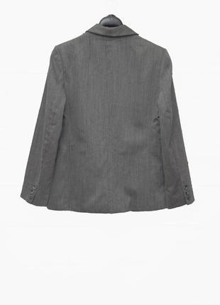 Стильный серый брючный костюм uk123 фото