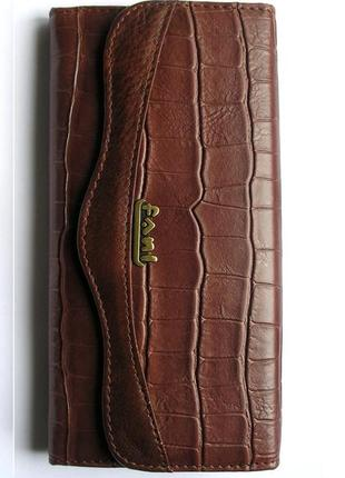 Кожаный кошелек крокодил + картхолдер , 100% натуральная кожа, есть доставка бесплатно