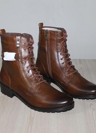 Демисезонные кожаные ботинки caprice, 38 размер