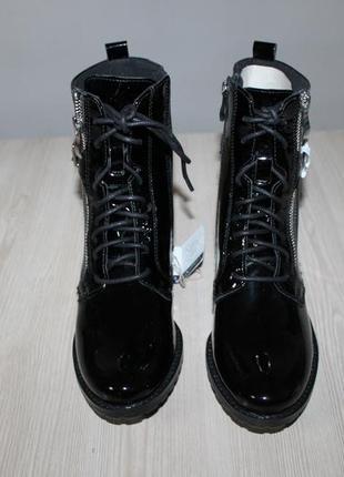 Лакированные кожаные ботинки caprice, 36 размер