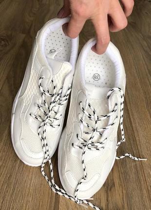 Белые бежевые кроссовки/ унисекс/наложка4 фото