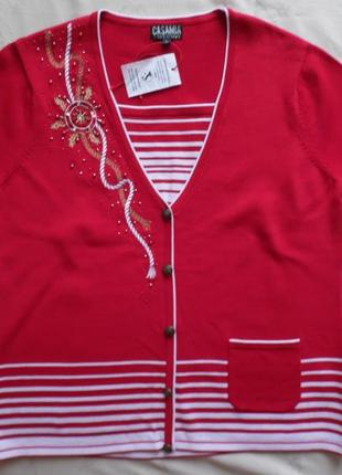 Блуза трикотаж, новая casamia размер l – реально идет на 50-52