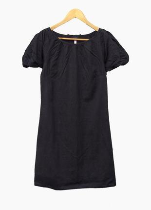 Красивое платье с воздушными рукавами и жаккардовым узором