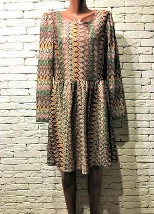 Платье с этнопринтом