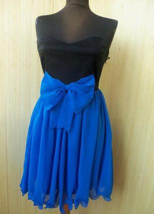 Платье бюстье с бантом  paprika