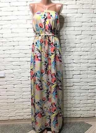 Платье-бюстье макси длины