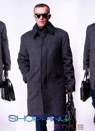 Пальто мужское зимнее классическое 56р