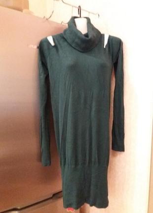 Amisu-удлиненный свитер m -л с открытыми плечами