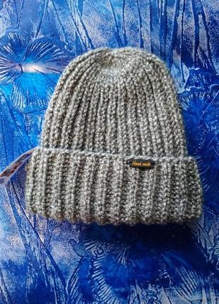 Шапка такори вязаная шапка