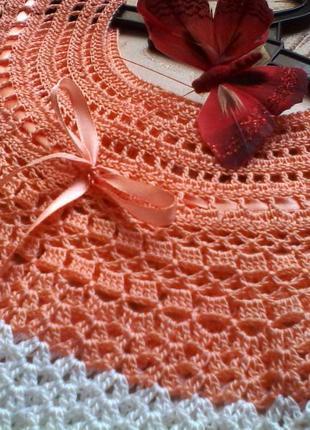 Платье детское вязаное крючком