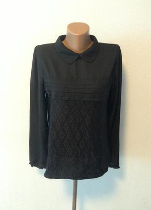 Красивая блуза с кружевами m-l / горячая цена/ скидки!