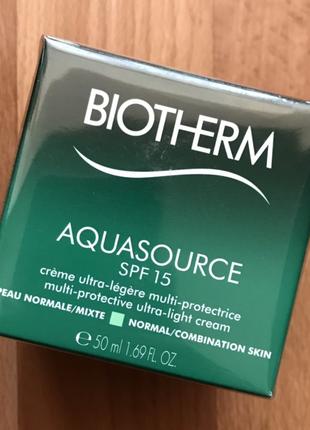 Крем для нормальной и комбинированной кожи biotherm aquasource spf15