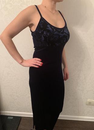 Бархатное вечерние платье...