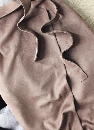 Замшевая юбка на запах от river island пудрового цвета🌹