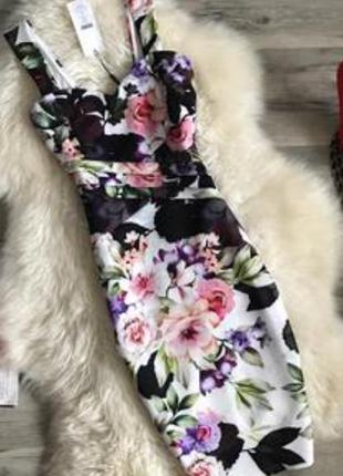 Шикарное платье в цветочный принт от lipsy london 🎁🔥🎉