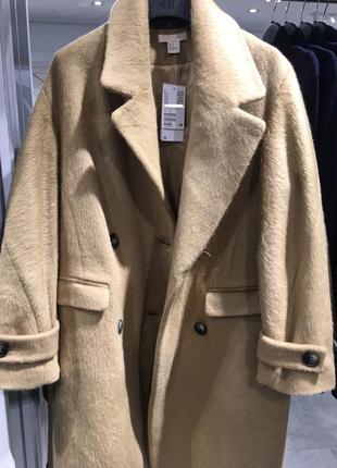 Новое шерстяное пальто нм с биркой premium quality