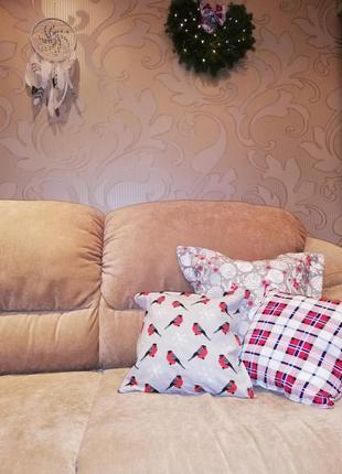 Комплект декоративных новогодних подушек