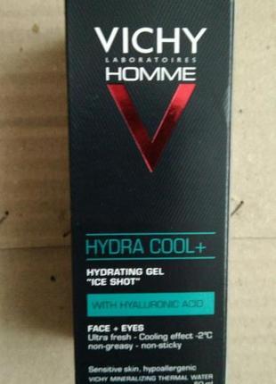 Vichy homme hydra cool увлажняющий гель с охлаждающим эффектом для лица и контура глаз