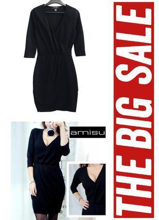 Платье на запах плотный трикотаж,держит форму amisu
