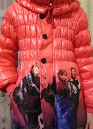 Зимняя куртка эльза и анна