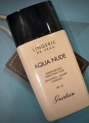Увлажняющий тональный флюид guerlain lingerie de peau aqua nude # 00n