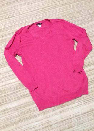 Хлопковый розовый джемпер laura scott