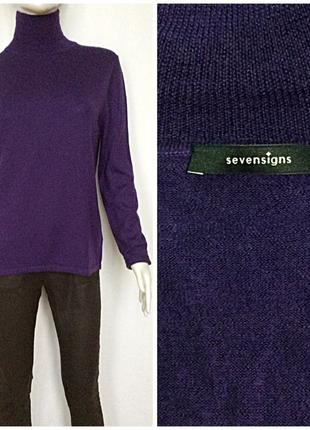 Sevensigns свитер гольф благородный фиолетовый мериносовая шерсть