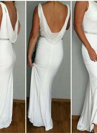 Свадебное, вечернее, торжественное, выпускное платье-рыбка mascara london 46-48 размер