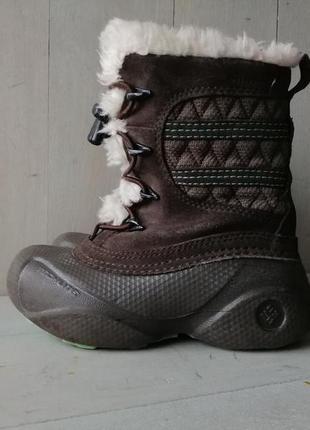 Columbia techfit, omni heat. зимние ботинки 16,5 см