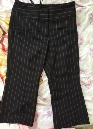 Укороченные брюки кюлоты в полоску