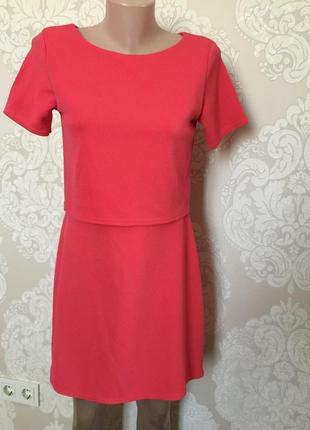 Фактурное платье/ платье с коротким рукавом