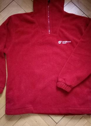 Очень теплый флисовый реглан кофта флиска свитер