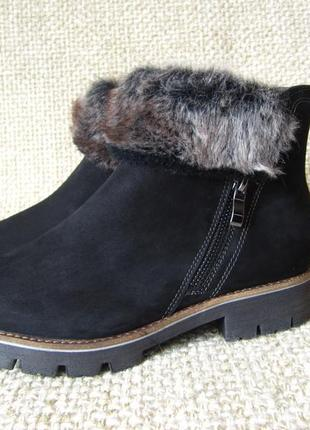 Полуботинки ботинки кожанные зимние оригинал caprice размер 36,37,38,39,40,41,42