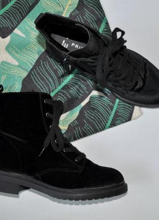 Велюровые ботинки primark