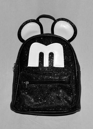 Рюкзак с глиттером с ушками микки мауса