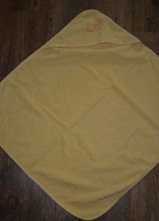 Детское пончо полотенце с капюшоном конверт для купания topolino
