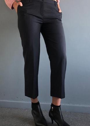 Темно-синие укороченные брюки-чиносы из натуральной ткани (оригинал)